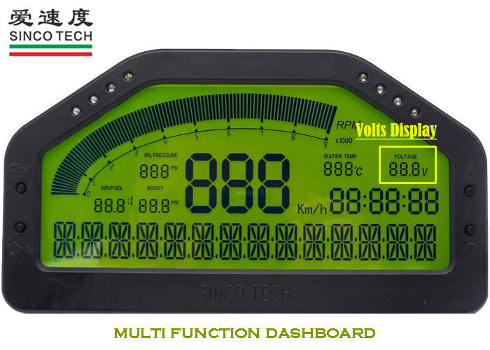Bluetooth Combined Car Digital Voltmeter 6.5 Inch Data Accuracy CE Approved